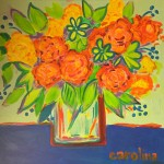 Orange Flowers in a Vase